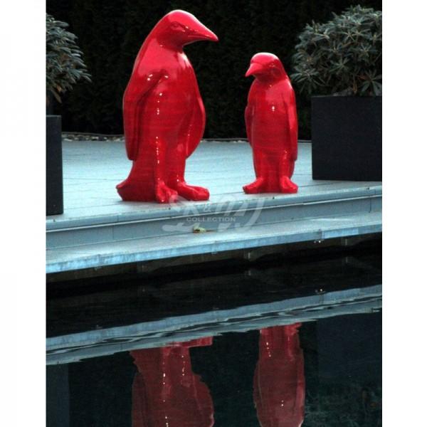 Pinguin rot (lebensgroß) 90 cm