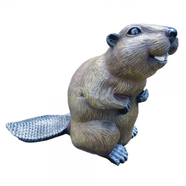 D&W Collection Deko Werbe Wild Tier Figur Biber Nager See Teich Garten Dekoration Werbung günstig kaufen