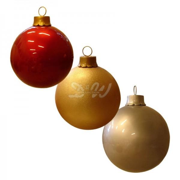 Weihnachtsbaum-Kugel 40 cm Durchmesser gold mit Glitter zum Aufhängen