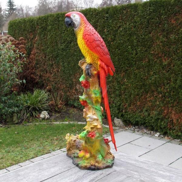 Papagei auf Ast (groß) 76 cm