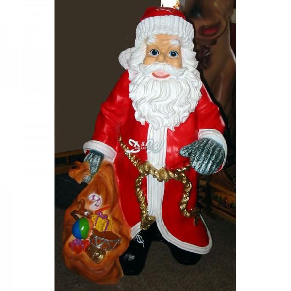 Weihnachtsmann / Nikolaus mit Geschenkesack (groß)