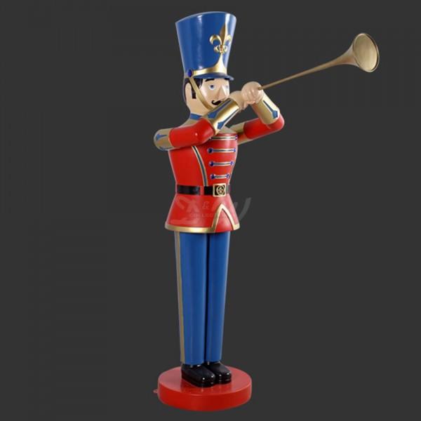 Nussknacker / Spielzeugsoldat mit Trompete (lebensgroß)