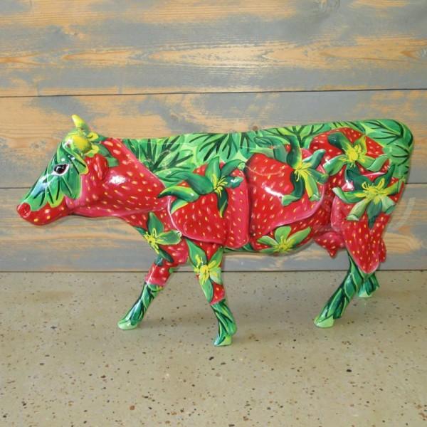 """Kuh mit Kunstbemalung """"Erdbeeren"""" (klein)"""