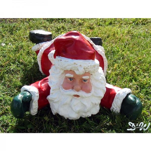 Weihnachtsmann / Nikolaus auf Bauch liegend (klein)