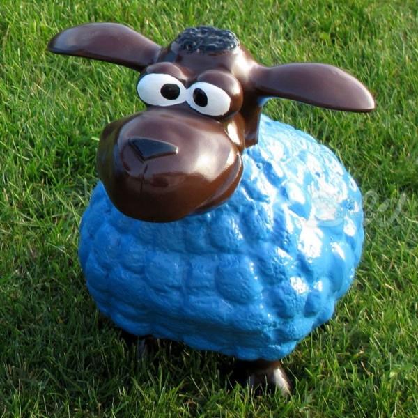 Wölkchen Schaf blau (klein) brauner Kopf