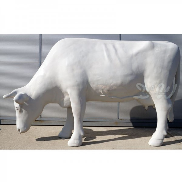 "Kuh Magda ""Kopf gerade"" grasend Rohling (lebensgroß) glatte Oberfläche"
