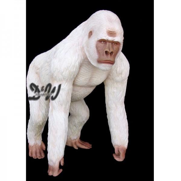 Gorilla Affe George stehend weiß (lebensgroß)