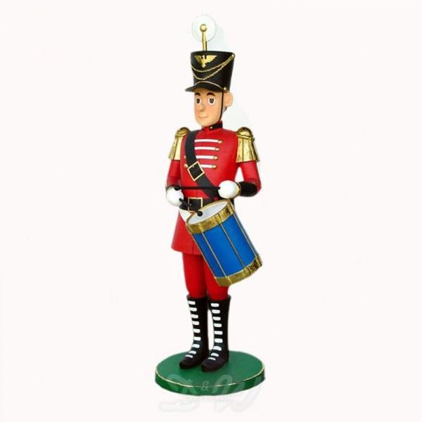 Nussknacker / Spielzeugsoldat rot mit Trommel (groß)