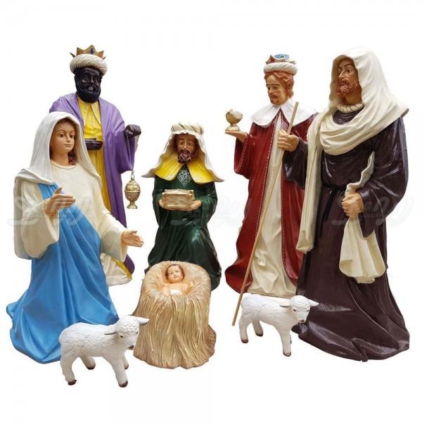 Weihnachtskrippe 8-teilig Krippenfiguren (groß)
