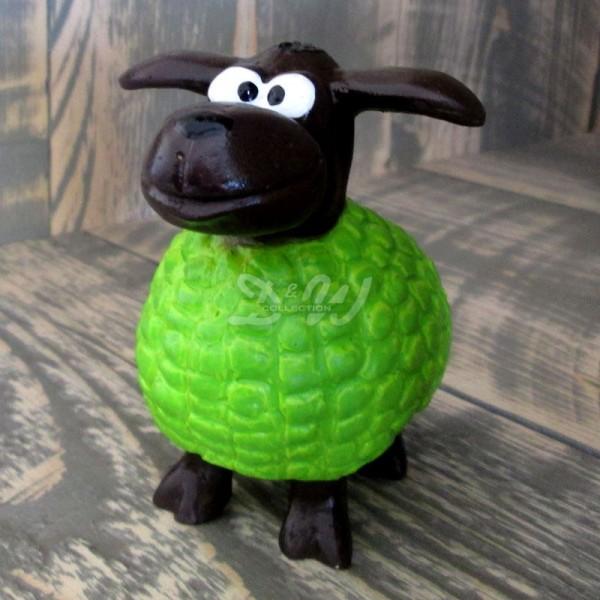 Wölkchen Schaf grün / limette (mini) brauner Kopf
