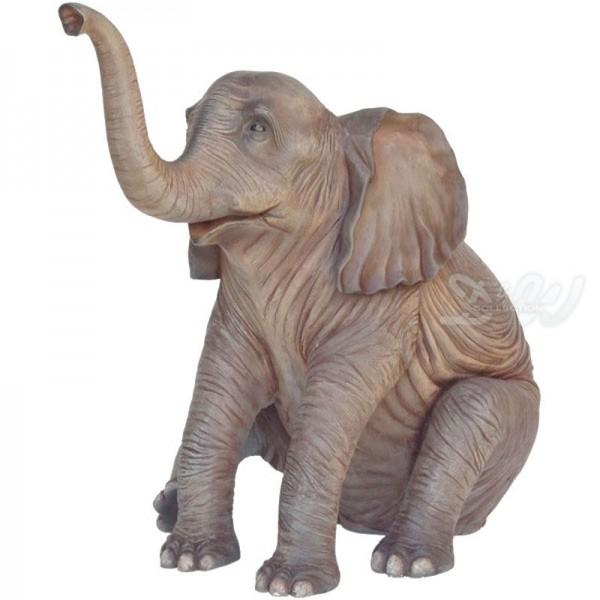 Elefant Baby sitzend (lebensgroß)