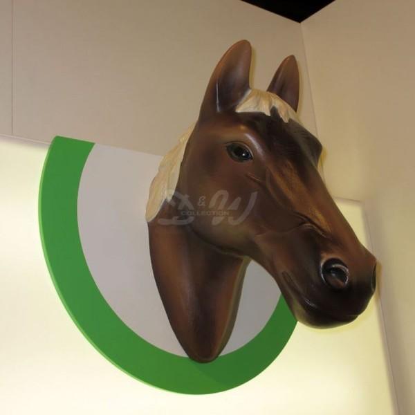 D&W Collection Deko Werbe Tier Figur Schleich Pferde Kopf Horse Wand Dekoration günstig kaufen
