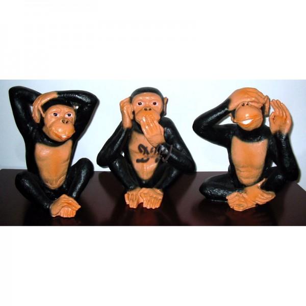 Schimpansen 3 Affen Nichts Sehen Nichts Hören Nichts Sagen Klein