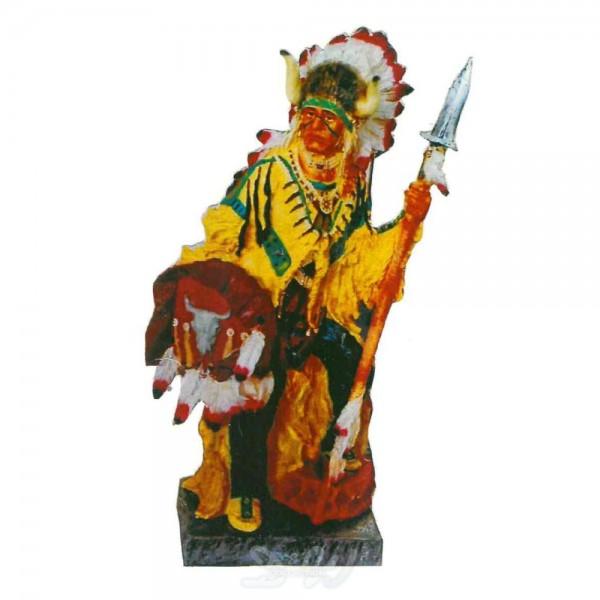Indianer stehend Medizinmann 80 cm