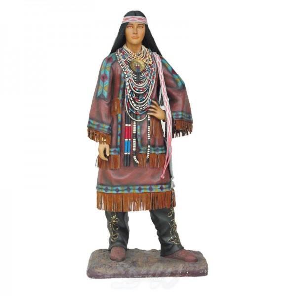 Indianerin Squaw (lebensgroß)