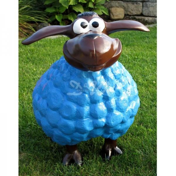 Wölkchen Schaf blau (groß) brauner Kopf