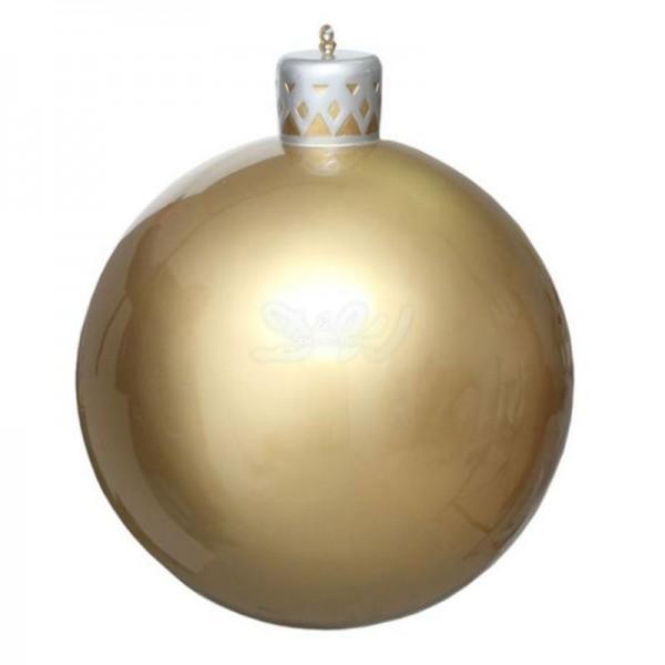 Weihnachtsbaum-Kugel 55 cm Durchmesser gold/silber zum Aufhängen