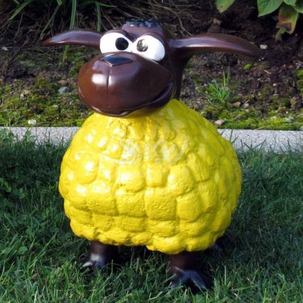 Wölkchen Schaf gelb (klein) brauner Kopf