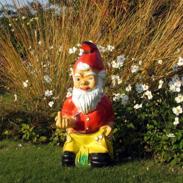 D&W Collection Deko Werbe Figur Garten Zwerg Dwarf Stinkefinger stinkig Dekoration Werbung günstig kaufen