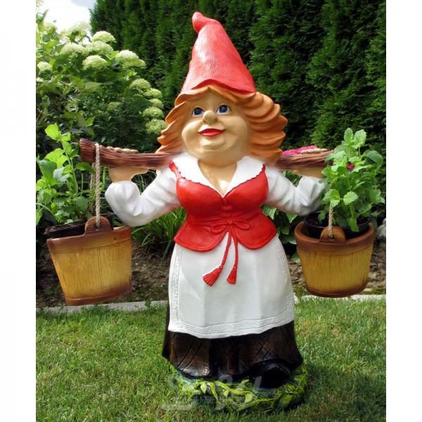Gartenzwerg Helga zum Bepflanzen