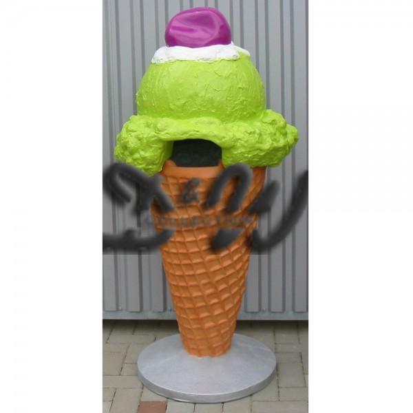 Eiswaffel Eistüte Eismülleimer Kugeleis mit Kirsche 135 cm