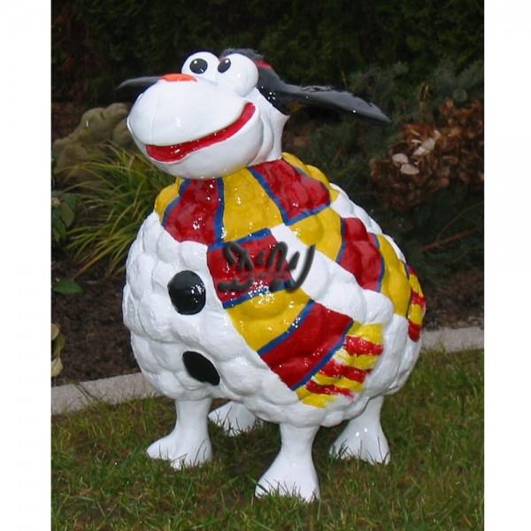 Wölkchen Schaf mit Kunstbemalung als Schneemann (groß)