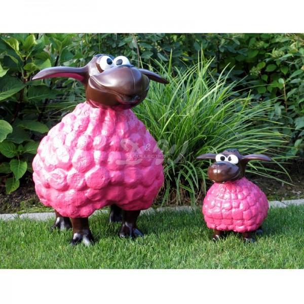 Wölkchen Schafe 2er Set pink mit braunem Kopf