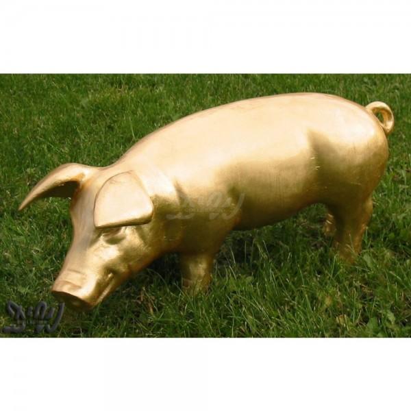 Schwein - Hausschwein Blattgold (klein)