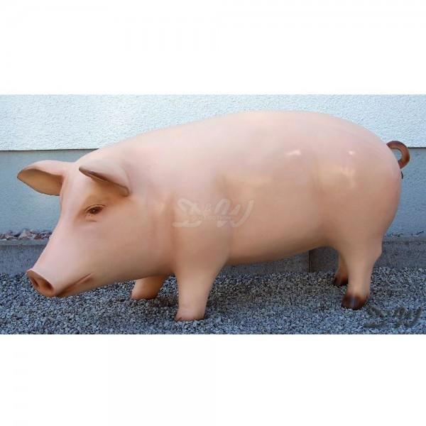 Schwein - Hausschwein (groß) natürliche Bemalung