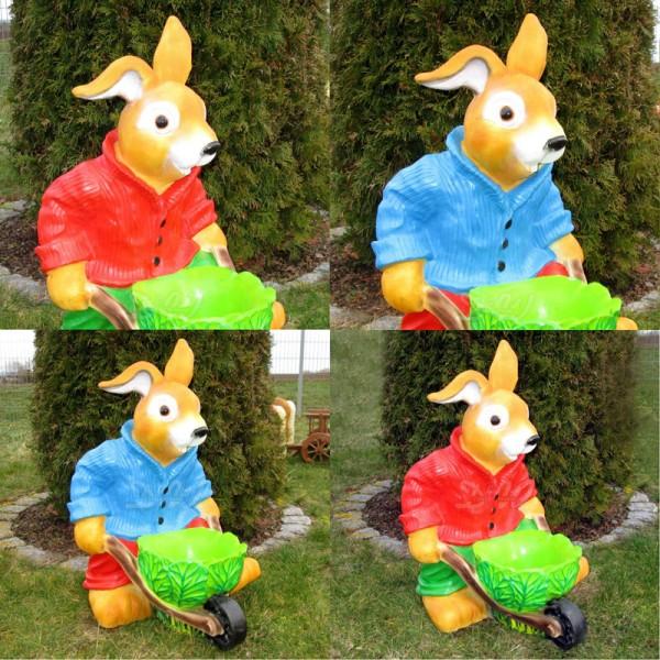 Osterhase mit Kohl-Karre - Überraschungshase - keine freie Farbwahl Hase