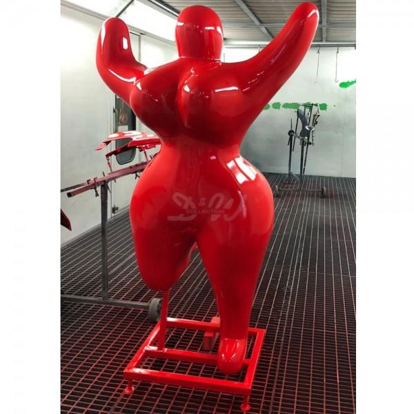D&W Collection Deko Werbe Figur Nana Art Skulptur lackiert überlebensgroß rot Lack Dekoration Garten Werbung günstig kaufen