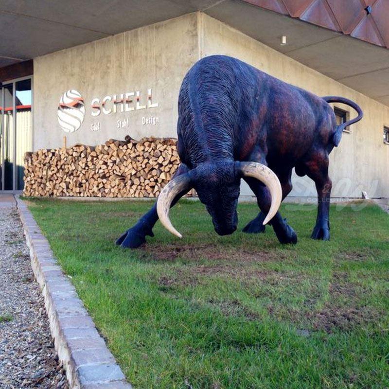stier alfredo schwarz braun lebensgross stiere bullen