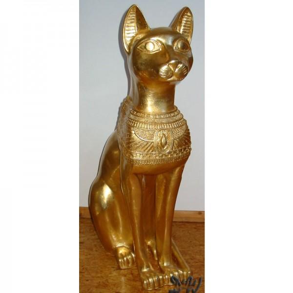 ägyptische Katze Bastet Blattgold