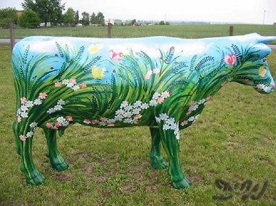 "Kuh mit Kunstbemalung ""Sommerwiese"" (Lebensgroß)"