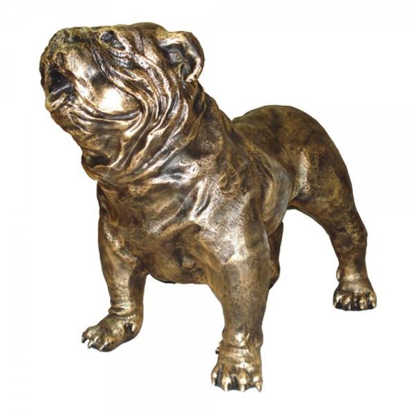 englische Bulldogge Hund bronze Patina (groß)