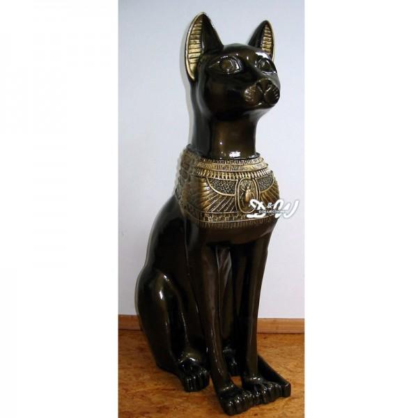 ägyptische Katze Bastet (bronze-gold)