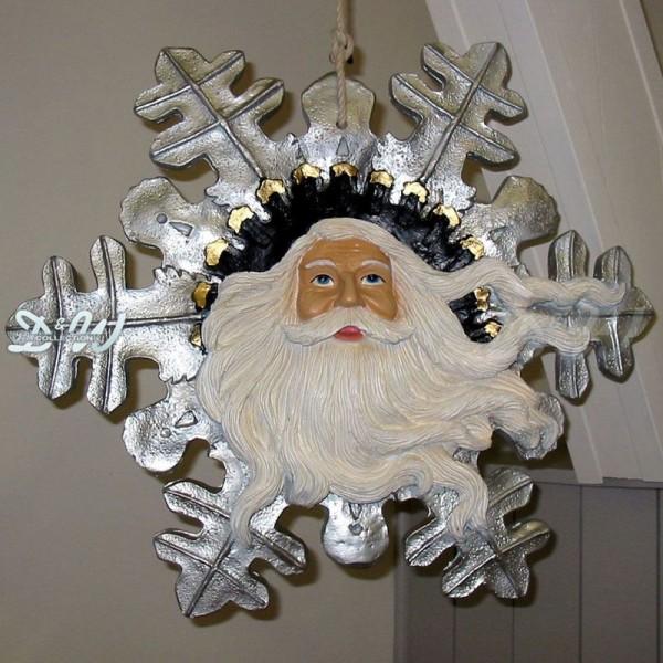Schneeflocke Weihnachtsmann zum Aufhängen
