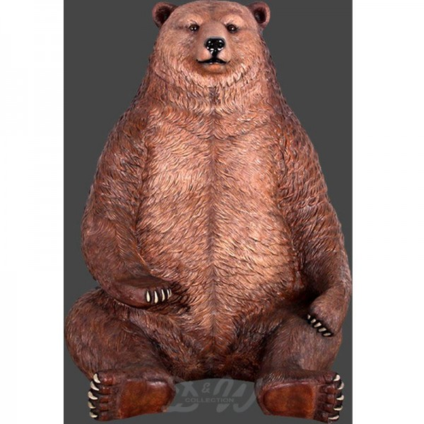 Grizzlybär Bär sitzend braun (überlebensgroß)