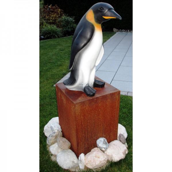 Pinguin schwarz-gelb-weiß (lebensgroß) 90 cm