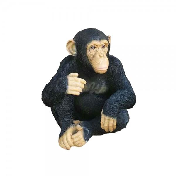 D&W Collection Deko Werbe Monkey Figur Schimpanse Affe sitzend schwarz mittel Zoo Tierpark Garten Dekoration Werbung günstig kaufen