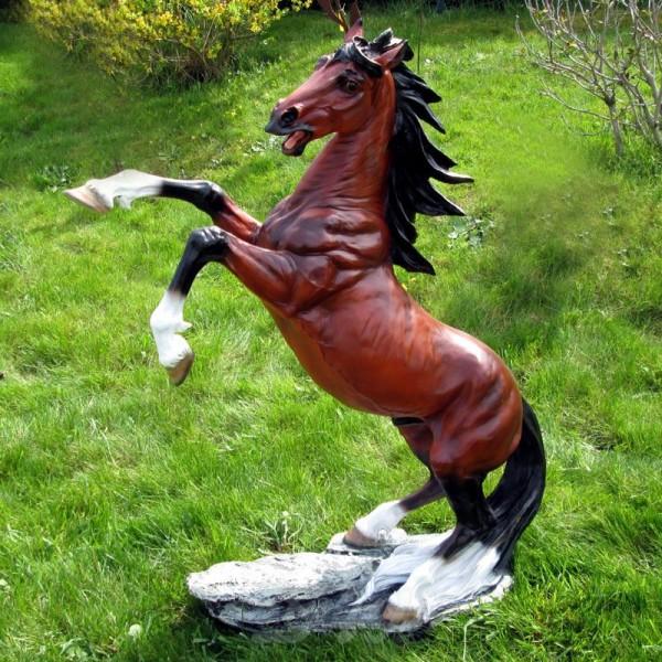 """Pferd steigend (groß) braun """"Brauner"""""""