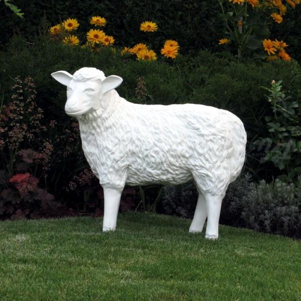 Schaf weiß strukturiert Rohling (groß) Kopf zur Seite
