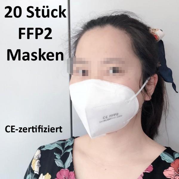 FFP2 ATEMSCHUTZ MASKE Gesichts Mund Schutz 4 lagig Nasenclip