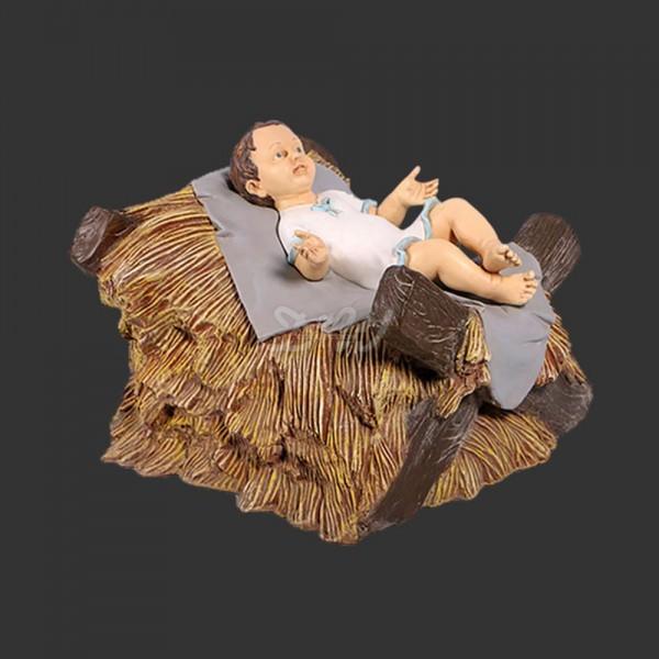 D&W Collection Weihnachts Deko Werbe Figur Weihnachten Krippenfigur Jesus Kind in Krippe Advent Dekoration Garten Werbung günstig kaufen
