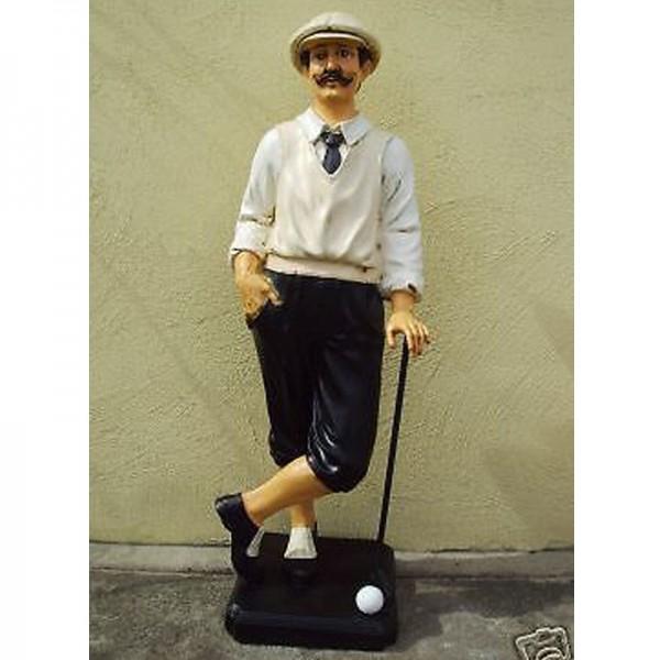 Deko Figur Golfspieler klassisch groß Golf Sport Sportler Werbung