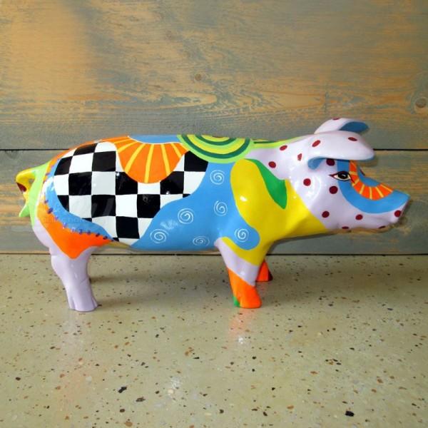"""Schwein mit Kunstbemalung """"Fantastico"""" (klein)"""