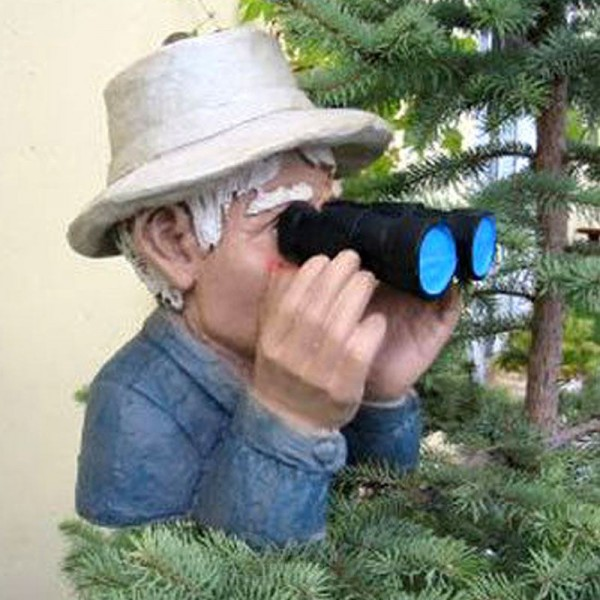 Beobachter mit Fernglas