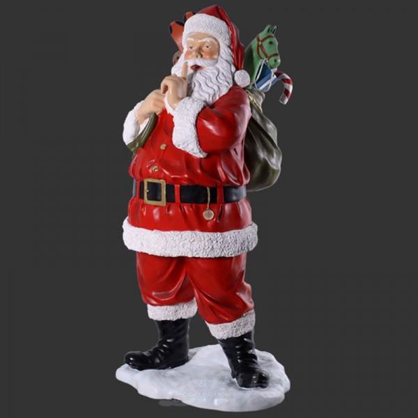 Weihnachtsmann stehend mit Geschenkesack (lebensgroß)