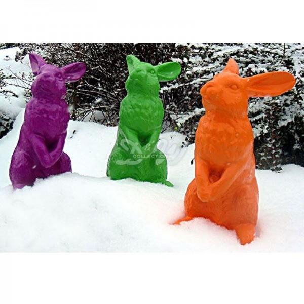 Osterhasen 3er Set aufrecht stehend Pop Art Hase
