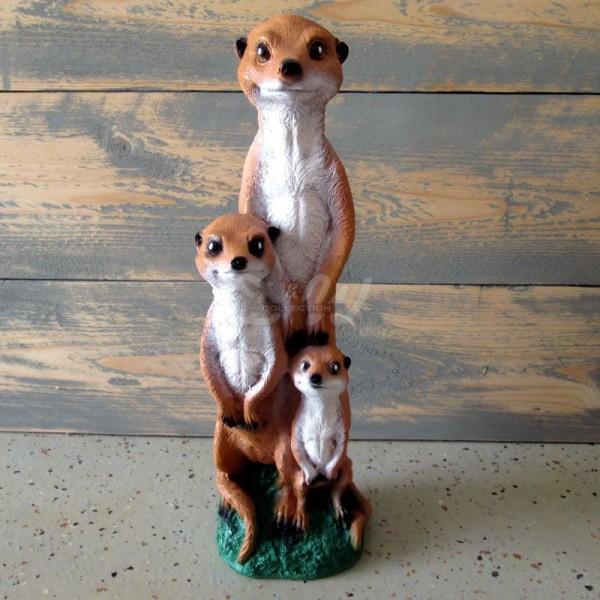 Erdmännchen stehend Familie (3 Stück)